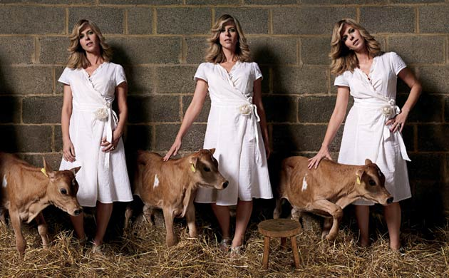 kate garraway breastfeeding a cow life and style guardian co uk