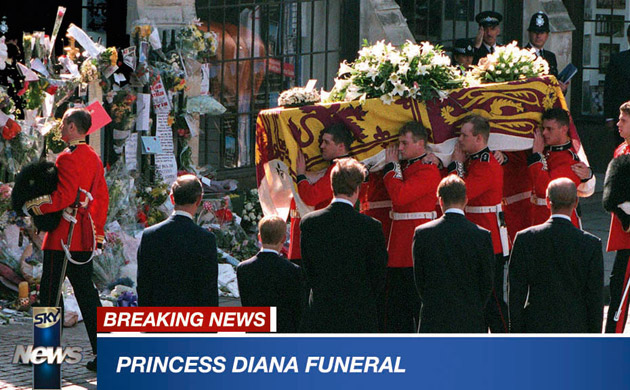 pictures of princess diana car crash. Princess Diana funeral