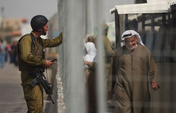 Israeli checkpoint in Nablus