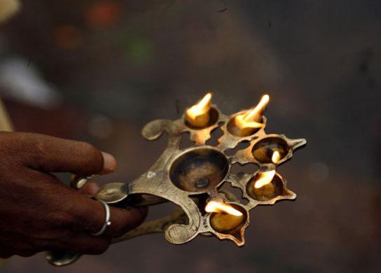 the Durga Puja festival  in India
