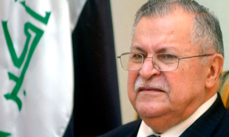 Iraqi president Jalal Talabani