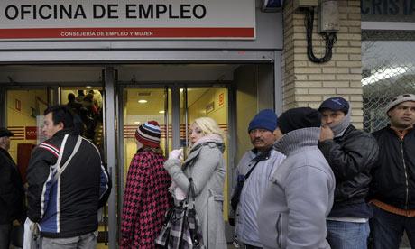 Spanish job centre queue
