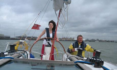 Amela Hill on a yacht