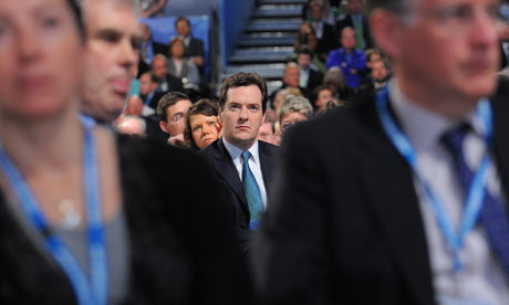 George Osbourne watches Michael Gove
