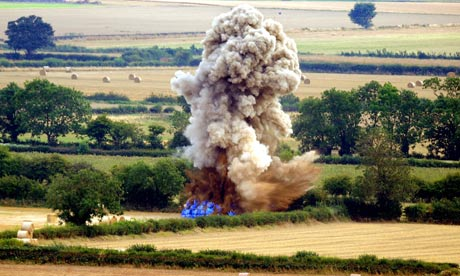 world war bombing. second world war bomb in village More than 1000 people were moved from their