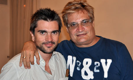 Juanes with Cuban Songwriter Amaury Perez