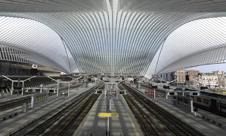 The renovated railway station at Liege-Guillemins in Belgium