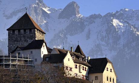 Vaduz castle, home of Liechtenstein royal family