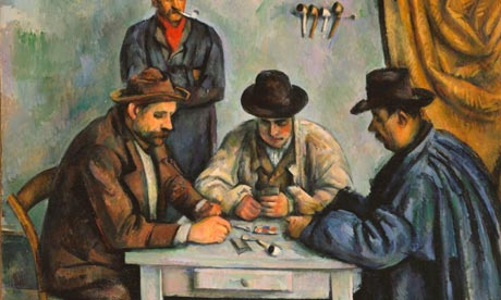 Detail from  Cézanne's Card Players