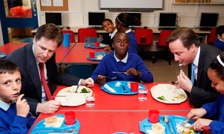 David Cameron and Nick Clegg in Nottingham