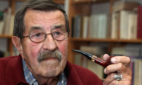 Gunter Grass at home in Lubeck