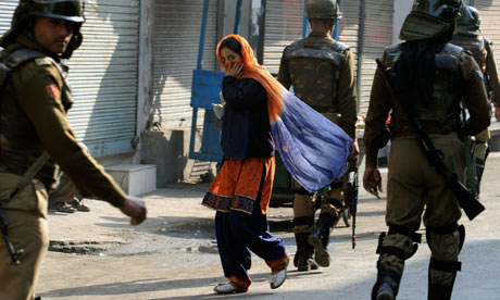 To go with India-Kashmir-unrest-protests