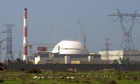 The reactor building of Iran's nuclear power plant at Bushehr