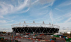 Work continues at the Olympic Stadium in east London