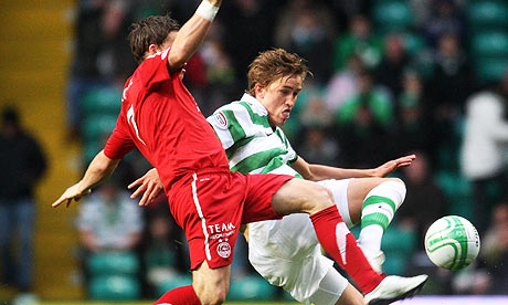 Celtic Match Pictures. Thomas-Rogne-Chris-Maguir-006