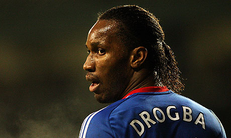 didier drogba body. the power of Didier Drogba