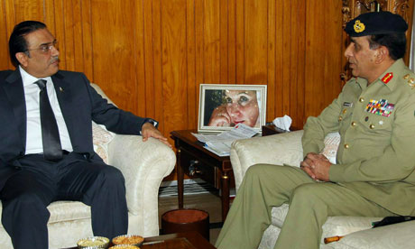 Pakistan's president Asif Ali Zardari with army chief General Ashfaq Kayani.