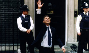 Tony Blair victorious