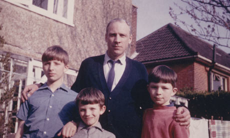 Rupert, Ralph and Robin Thomson with their father