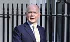 William Hague arrives at Downing Street
