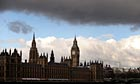 Rain clouds roll across the Houses of Parliament