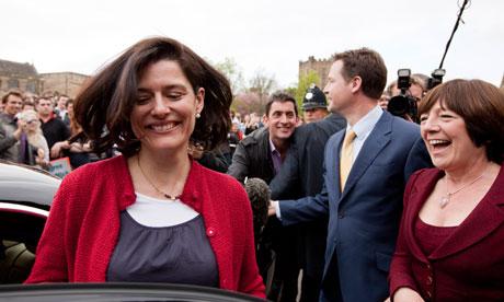 Lib Dem leader Nick Clegg campaigning