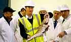 David Cameron visits Grimsby fish market