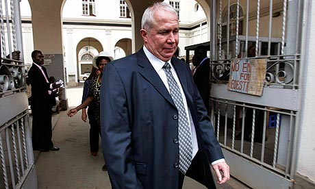 Roy Bennett of Zimbabwe's MDC party leaves the high court in 