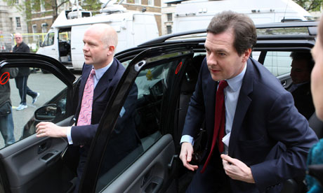 William Hague and George Osborne