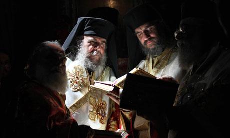 Greek Orthodox bishops conduct Mass