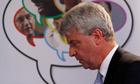 Andrew Lansley speaks in east London