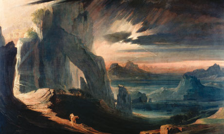 The Expulsion of Adam and Eve from Paradise, by John Martin