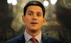David Miliband delivers a speech at the Institute of Directors