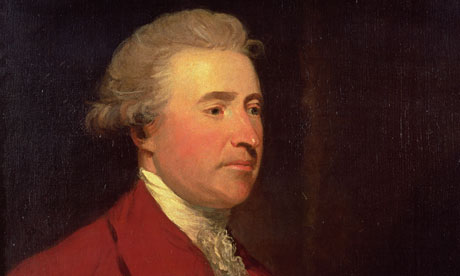 Detailed portrait of Edmund Burke, identified with the development of the ideology of Classical Conservatism