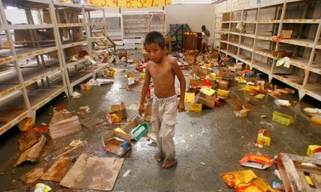 looted supermarket