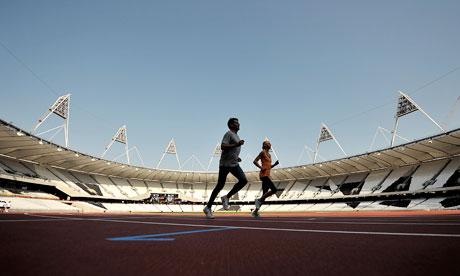 Sebastian Coe tests London track