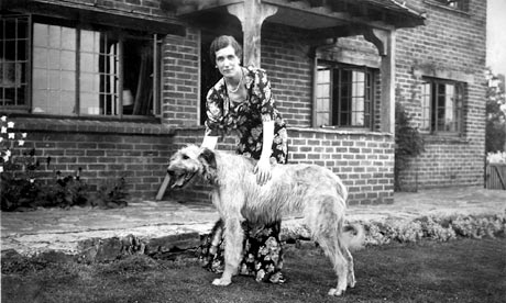 Georgette Heyer, at home with her dog, circa 1939