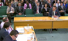 News Corp executive James Murdoch faces questions from parliamentarians in London