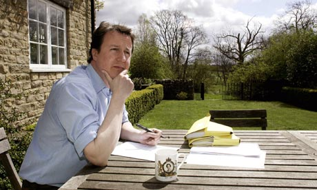 David Cameron at his home in Oxfordshire
