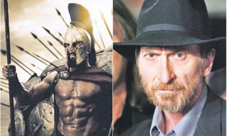 300 film still and writer frank miller