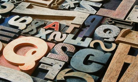 Victorian letters for a letterpress