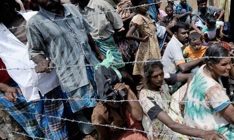 Internally displaced Sri Lankan people w