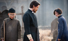 Christian Bale in a still from the Zhang Yimou film The Flowers of War