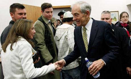 Ron Paul meets voters in Iowa