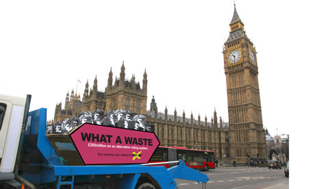 No to AV campaign skip passes Big Ben