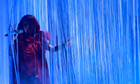 Rihanna performs on stage during the BRIT music awards at the O2 Arena in London
