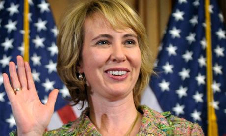Rep. Gabrielle Giffords, who is making an extraordinary recovery from gunshot wounds. Photograph: Susan Walsh/AP