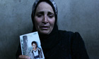The mother of Palestinian suicide bomber Loai Aghawani