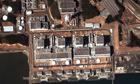 Earthquake and tsunami damage at Fukushima nuclear plant Japan