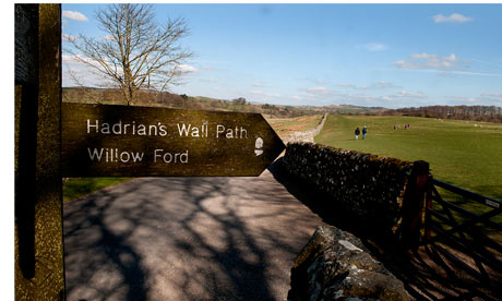 Hadrian's wall sign